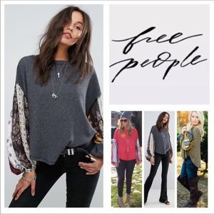 Free People Blossom Balloon-Sleeve Thermal.  NWT.
